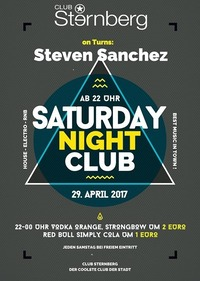 Saturday Night Club // SA 29. April // Sternberg@Club Sternberg