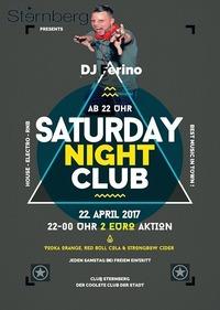 Saturday Night Club // Sa. 22. April // Sternberg@Club Sternberg