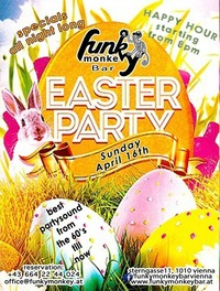 ☼ Funky Easter Party ☼ Sunday April 16th, 2017@Funky Monkey