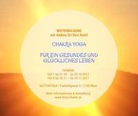 Weiterbildung - Chakra Yoga für ein gesundes & glückliches Leben (Teil 1)@Sattva Yoga