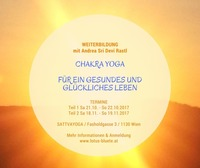 Weiterbildung - Chakra Yoga für ein gesundes & glückliches Leben (Teil 2)@Sattva Yoga