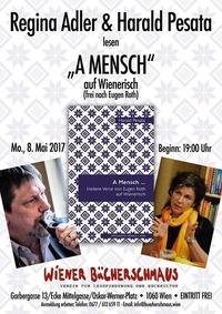 A Mensch - Heitere Verse von Eugen Roth auf Wienerisch@Buchhandlung und Antiquariat Wiener Bücherschmaus