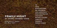 Family Night • Freier Eintritt • Samstag, 06. Mai 2017@Conrad Sohm