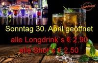Sonntag 30. April geöffnet@Spektakel