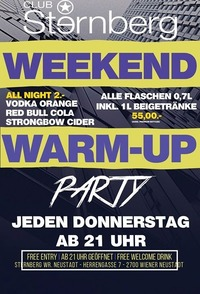 Weekend Warm-UP // Do. 4. Mai // Sternberg@Club Sternberg