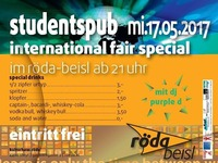 International Fair Studentspub @Röda@KV Röda