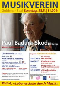 """""""Goldene Raritäten"""" Jubiläumskonzert mit Paul Badura-Skoda @Musikverein"""