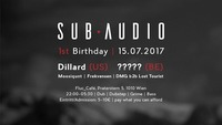 Sub Audio B-Day Bash w/ Dillard & tba@Fluc / Fluc Wanne