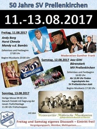 50 Jahre SV Prellenkirchen & ANDY BORG LIVE!@Sportplatz Prellenkirchen