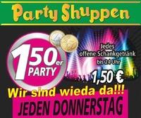 Chill Out Donnerstag ,1,50er Party! Wir sind wieder da!@Partyshuppen Aspach