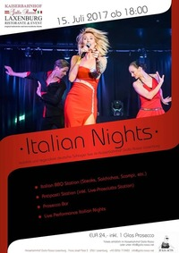 ITALIAN NIGHTS - Italienisches Sommernachtsfest@Kaiserbahnhof Gallo Rosso Laxenburg