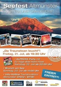 Seefest Altmünster - Der Traunstein leucht@Esplanade