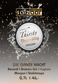 Thirsty Thursday @Salzbar@Salzbar