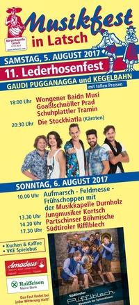 11. LEDERHOSENFEST & MUSIKFEST@Musikfest
