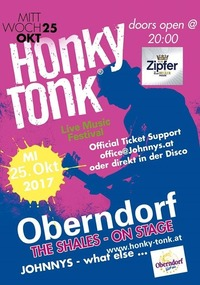 Honky Tonk Live Musik Festival im Johnnys@Johnnys - The Castle of Emotions