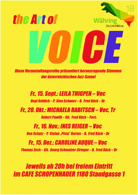The ART OF VOICE feat. Leila Thigpen@Cafe Schopenhauer