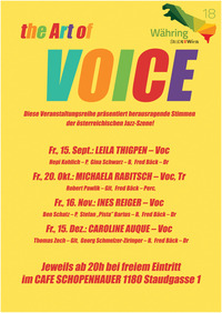 The ART OF VOICE feat. Ines Reiger@Cafe Schopenhauer