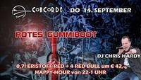 Rotes Gummiboot@Discothek Concorde
