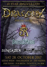 28.10.2017 Dragony 10 Year Anniversary Show + Special Guests@((szene)) Wien