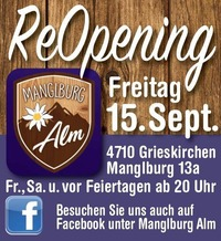 Reopening Weekend@Manglburg Alm