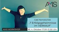 AXIS Workshop - 7 Erfolgsgeheimnisse im Verkauf@Tabakfabrik