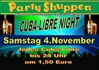 Samstag 4.November Cuba-Libre Night@Partyshuppen Aspach