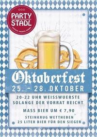Oktoberfest im Partystadl vom 25.10. - 28.10.2017@Partystadl