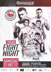 TOSAN FIGHT NIGHT – October 21st 2017@Hallmann Dome