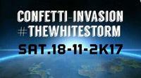 CONFETTI-INVASION #THEWHITESTORM@Brooklyn