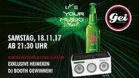 GEI Clubnight & Heineken DJ Booth Gewinnspiel@GEI Musikclub