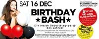 Samstag Birthday BASH – Die letzte Geburtstagsparty des Jahres@Bollwerk
