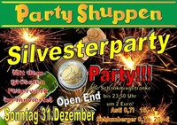 Silvesterparty 31.12.2017@Partyshuppen Aspach