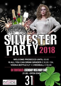 Silvesterparty 2018 - with Legendary Dragqueen Mary Cary@Inside Bar