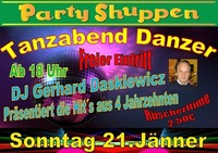 Tanzabend Danzer Sonntag 21. Jänner@Partyshuppen Aspach