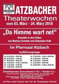 Atzbacher Theaterwochen 2018