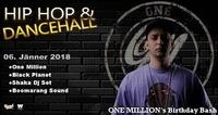 Hip Hop & Dancehall // One Million's Birthday Bash@Warehouse