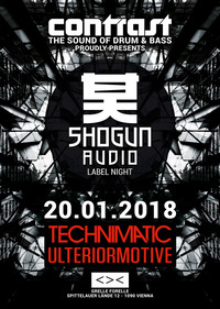 CONTRAST presents SHOGUN AUDIO w/ TECHNIMATIC & ULTERIOR MOTIVE