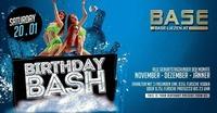 Birthday Bash November-Dezember-Jänner@BASE