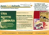 Kunst.PLUS.Kulinarik. im GenussSpiegel: UNA NOTTE ITALIANA mit PIANO MEN Vienna (Live) @Genuss-Spiegel - Café, Kunst & Kulinarik