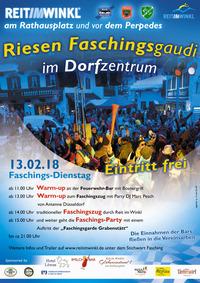 Faschingsdienstag 2018 in Reit im Winkl@Rathausplatz Reit im Winkl