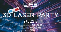 3D LASER PARTY @ Life Club@Life Club