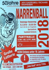 Schlums Narrenball 2018@Sportzentrum Schlums