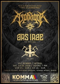 Asphagor - The Cleansing Album Release & Ars Irae & Erl@Komma