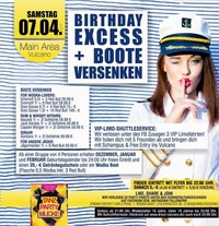 Birthday Excess + Boote Versenken@Vulcano