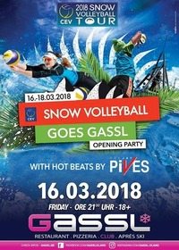 Snow Volleyball goes Gassl- Opening Party@Gassl