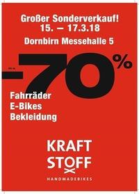 KRAFTSTOFF Bike Sonderverkauf 2018@Messe Dornbirn