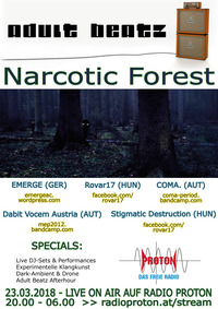 ADULT BEATZ #104 - Narcotic Forest@Proton - das feie Radio