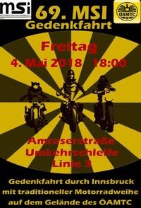 69. MSI - Motorradgedenkfahrt durch Innsbruck@Ende Linie 3