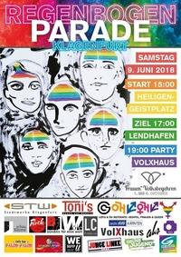 Regenbogenparade Klagenfurt & Pride Party 2018@Volxhaus - Klagenfurt