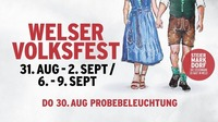 Probebeleuchtung am Welser Volksfest 2018